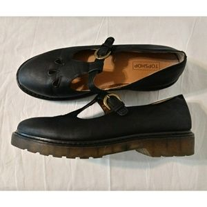 Topshop Black Thick Sole Mary Janes SZ 9.5